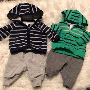Carter's joggers with hoodies newborn